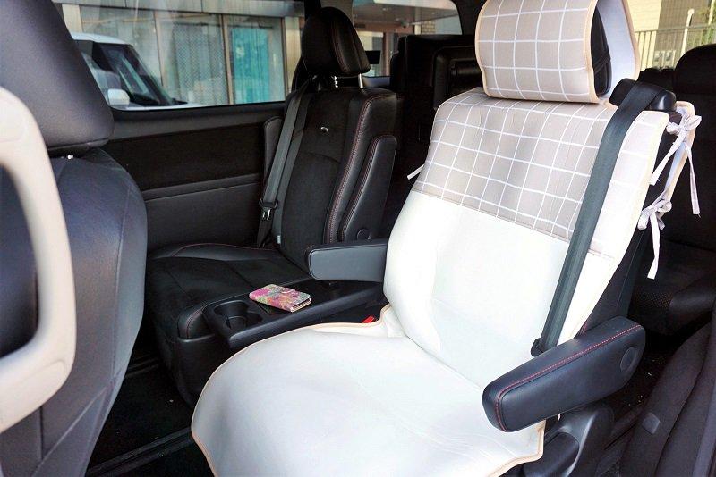 ピラーレス車用シートカバー
